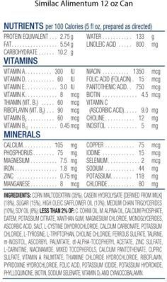 Similac Alimentum Ingredients